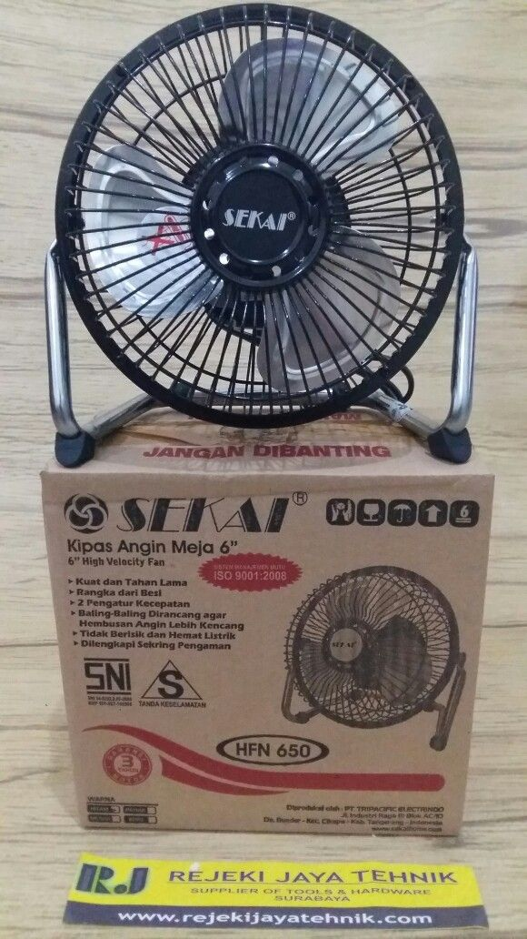 Kipas Angin Meja / Desk Fan Sekai 6 inch HFN 650 High Velocity Fan