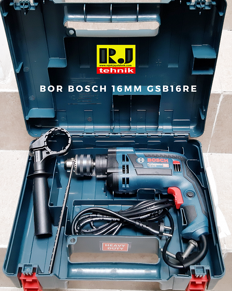 Mesin Bor Tembok Beton Impact Drill Bosch GSB16RE 16mm