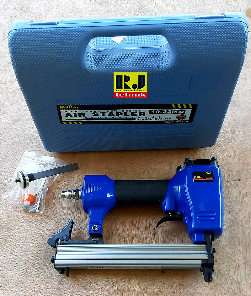 Mesin Air Nailer Staples Paku Tembak Angin Mollar 1022J