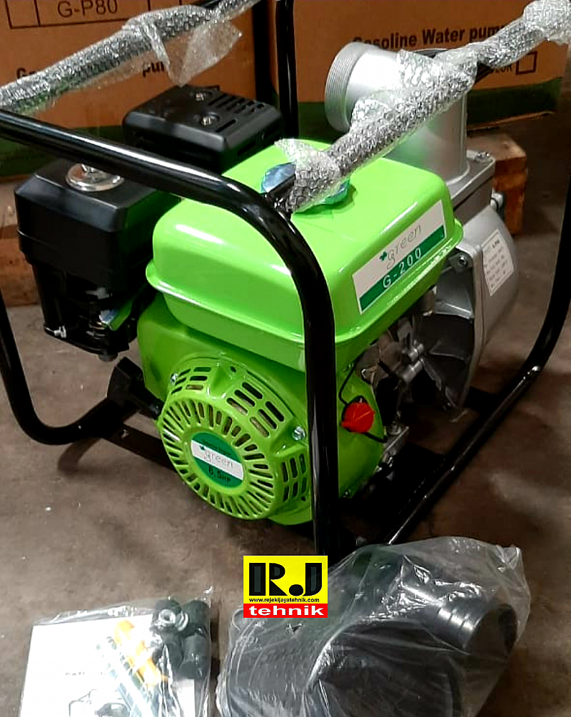 "Mesin Pompa Air Sawah Irigasi Engine Pump 2"" Green Water Pump WP 2"