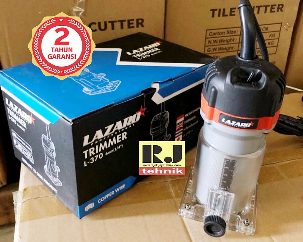 Mesin Profil Router Trimmer Kayu 6mm Lazaro L370