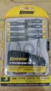 Obeng Precision Tool Set Yellow Black Krisbow 12pcs