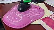 Mouse Pad Bantal Tatakan Alas Mouse Tebal Hello Kitty